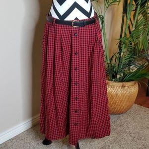 Vintage Napa Valley Buffalo Plaid Skirt